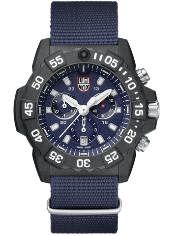 Luminox Navy SEAL Chronograph Blue Dial Blue Nylon Men's Watch XS.3583.ND