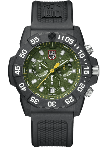 Luminox Navy SEAL Chronograph Green Dial Black Strap Men's Watch XS.3597