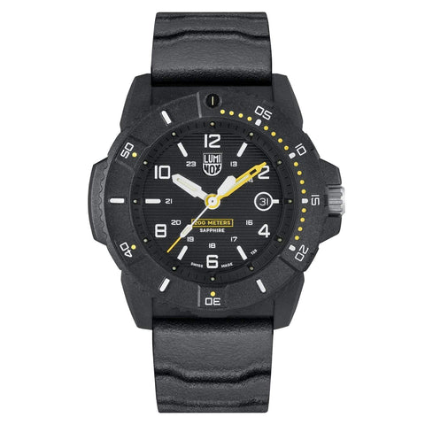Luminox Navy SEAL 3601 Carbonox Black Rubber Strap Men's Watch XS.3601