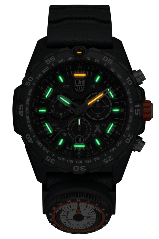 Luminox Bear Grylls Survival MASTER Series Chrono Black Strap Men's Watch XB.3741