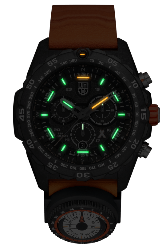 Luminox Bear Grylls Survival MASTER Series Chrono Orange Strap Men's Watch XB.3749