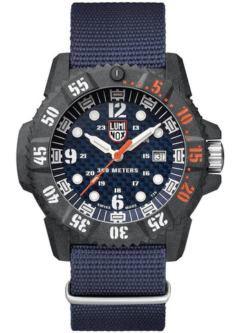 Luminox Master Carbon SEAL Carbon Case Blue Nylon Strap Men's Watch XS.3803.C