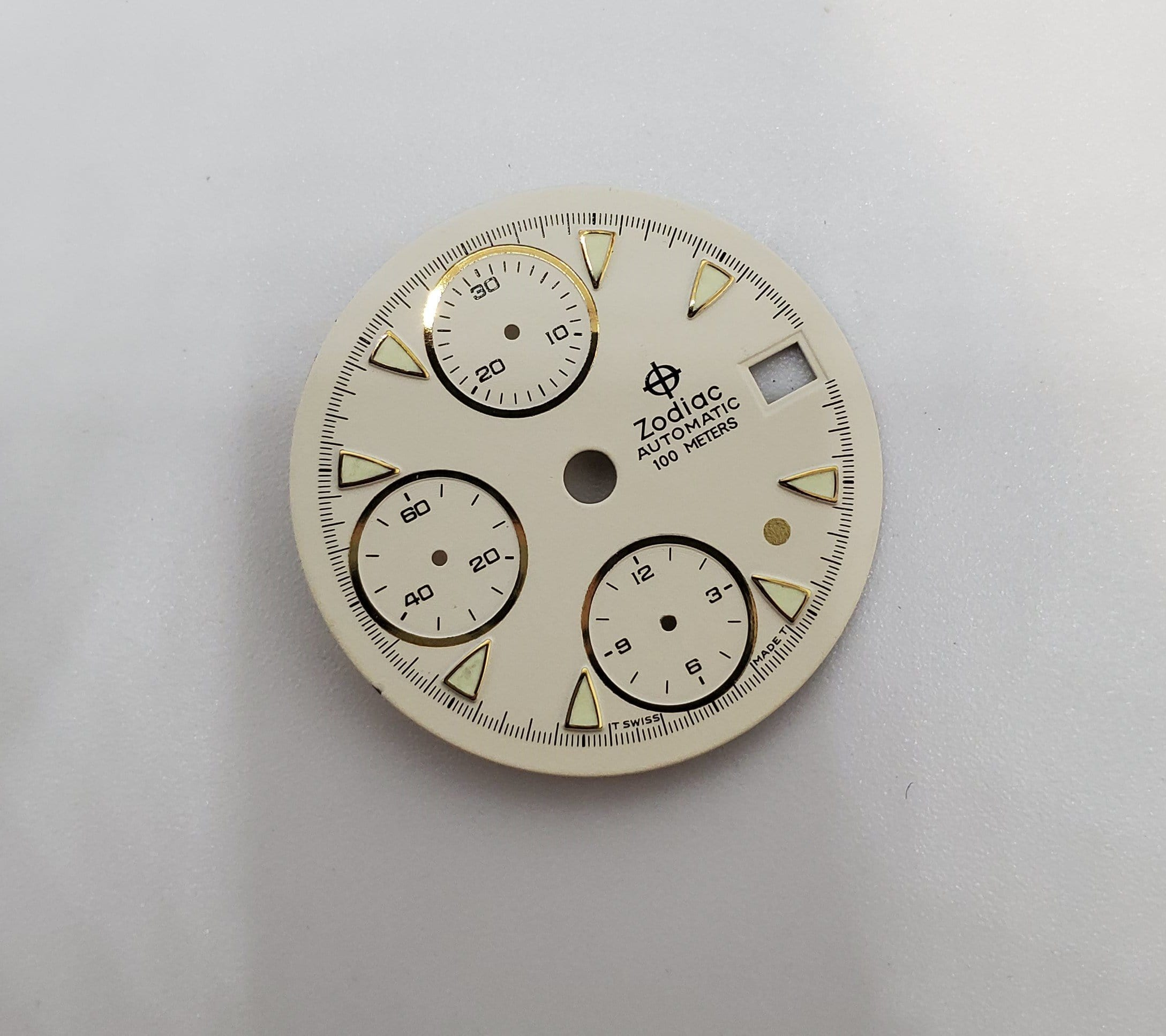 Vintage Gold Dot Zodiac 28.5mm Chronograph Automatic White Dial 406.42.16