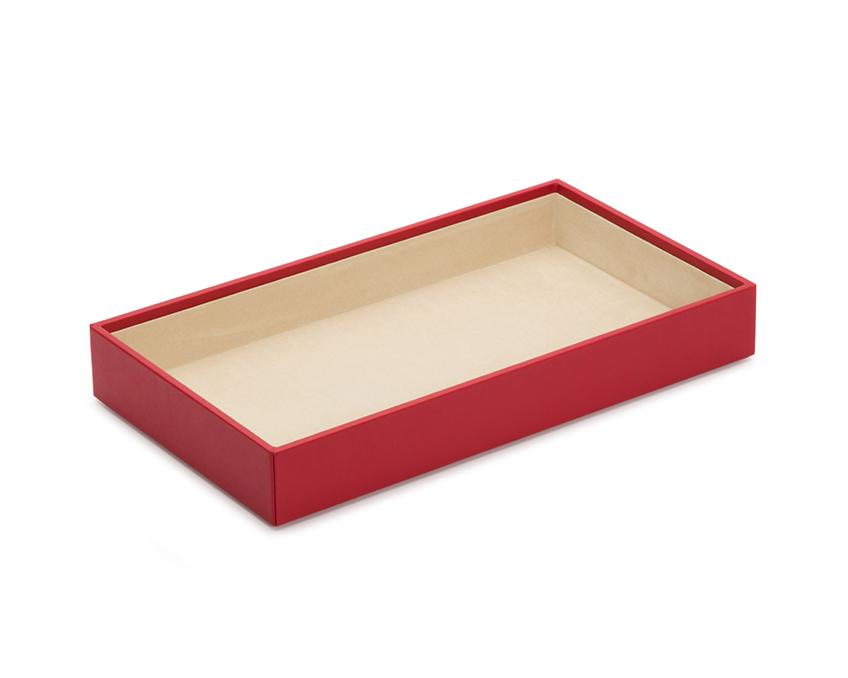 "WOLF Vault 2"" Deep Tray Red Leather Finish 435072"