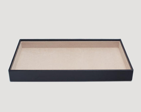 "WOLF Vault 1.5"" Standard Tray Black Leather 435102"