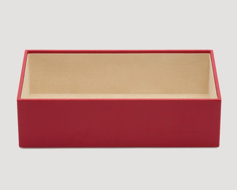 "WOLF Vault 4"" Deep Tray Red Leather Finish 435272"
