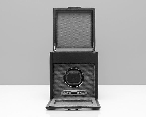 WOLF 456102 Viceroy Single Watch Winder Black With Storage