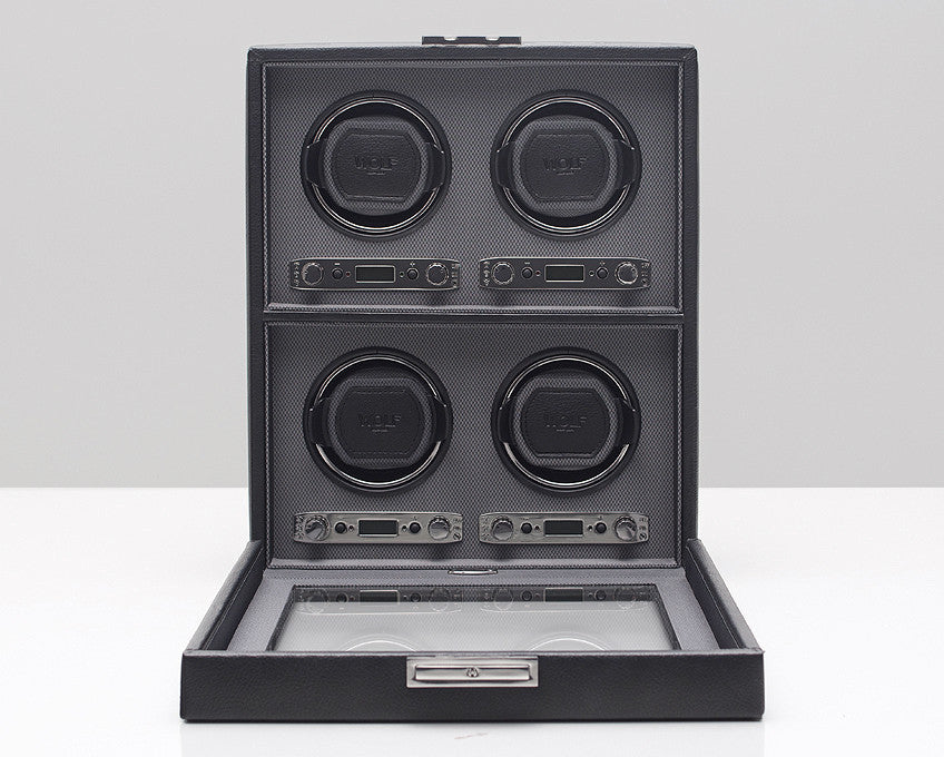 WOLF 456702 Viceroy Four Piece Watch Winder Black