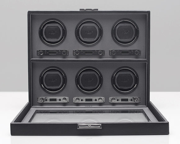 WOLF 456802 Viceroy Six Piece Watch Winder Black