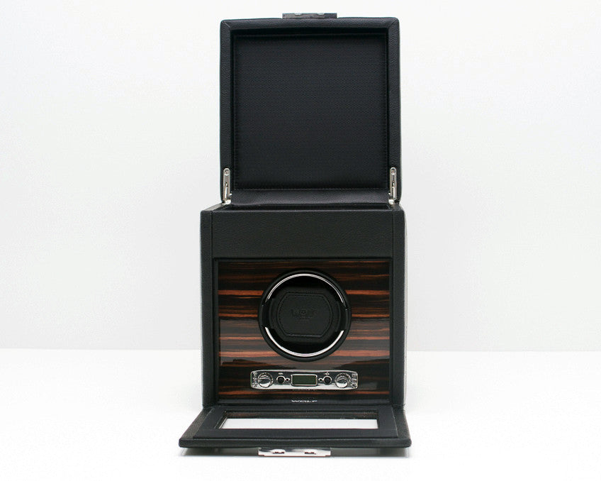 WOLF 457156 Roadster Single Watch Winder With Watch Storage