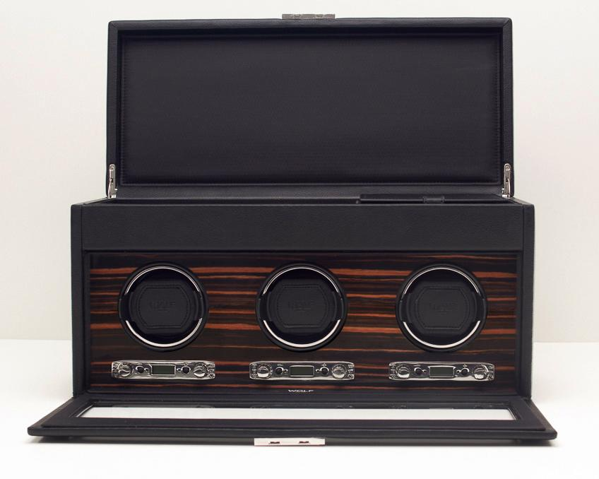 WOLF 457356 Roadster Luxury Triple Watch Winder With Watch Storage