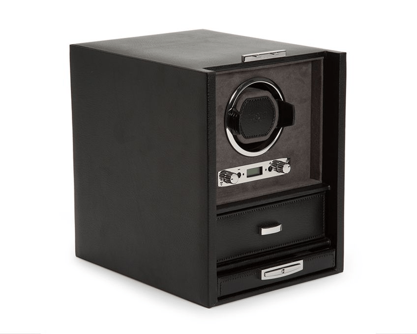 WOLF Blake Single Watch Winder Black-Grey 460602