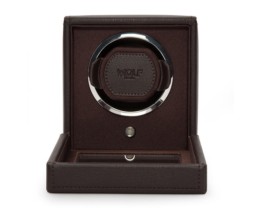 WOLF Cub Brown Watch Winder With Glass Cover 461106