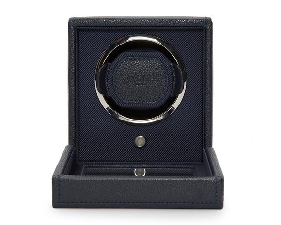 Wolf Designs 461117 Navy Cub Watch Winder With Cover