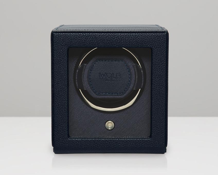 WOLF Cub Navy Watch Winder With Glass Cover 461117