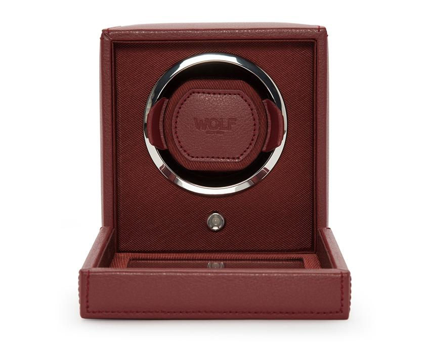 WOLF Cub Bordeaux Watch Winder With Glass Cover 461126