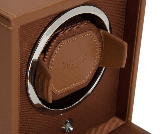 WOLF Cub Cognac Watch Winder With Glass Cover 461127