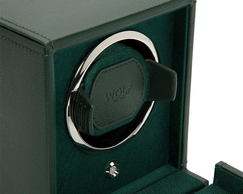 WOLF Cub Green Watch Winder With Glass Cover 461141