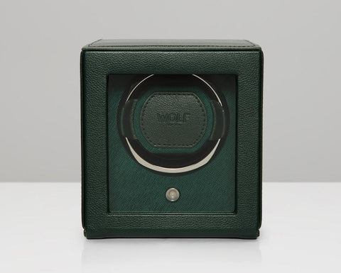 WOLF Green Cub Watch Winder With Glass Cover 461141