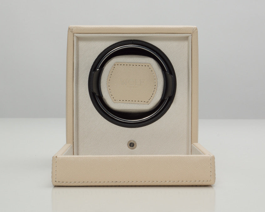 Wolf Designs 461153 Cream Cub Watch Winder With Cover