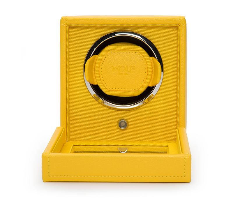 WOLF Cub Yellow Watch Winder With Glass Cover 461192