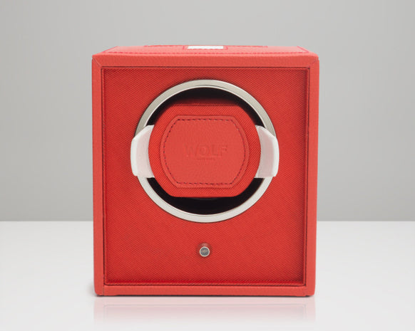 WOLF 462104 Red Swiss Flag Single Watch Winder Navigator