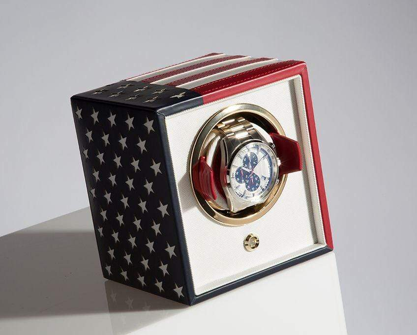 WOLF Navigator US Flag Cub Watch Winder 462304