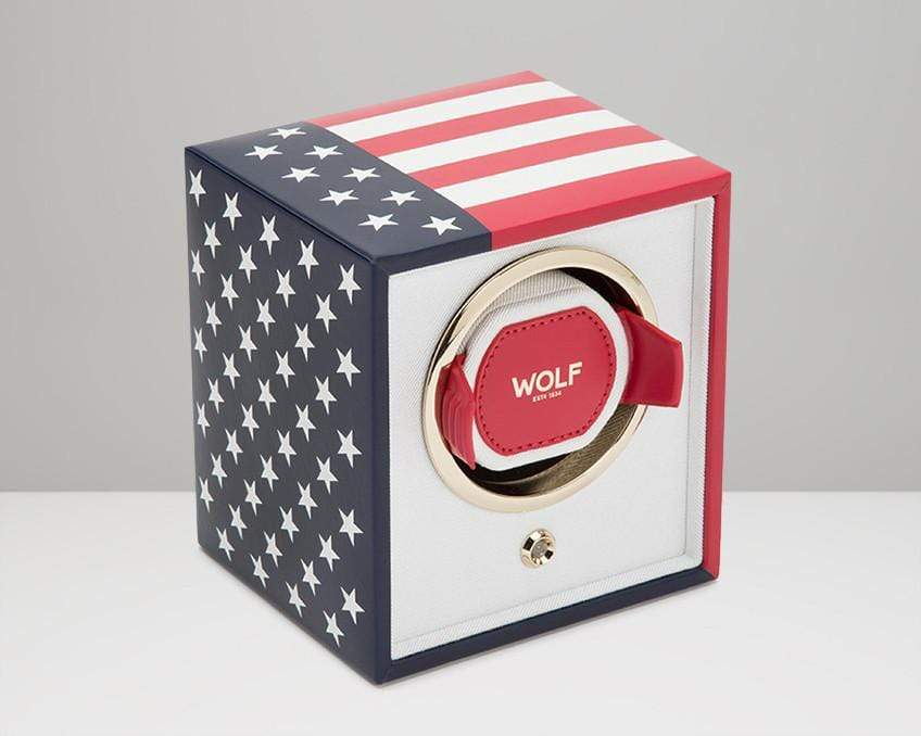 WOLF 462304 American Flag Single Watch Winder Navigator