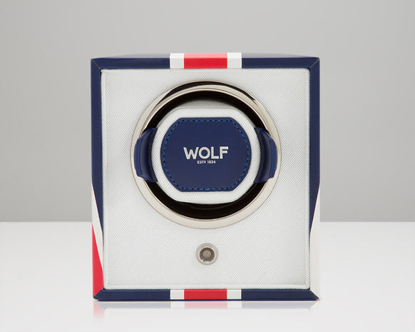 WOLF 462404 UK Flag Single Watch Winder Navigator
