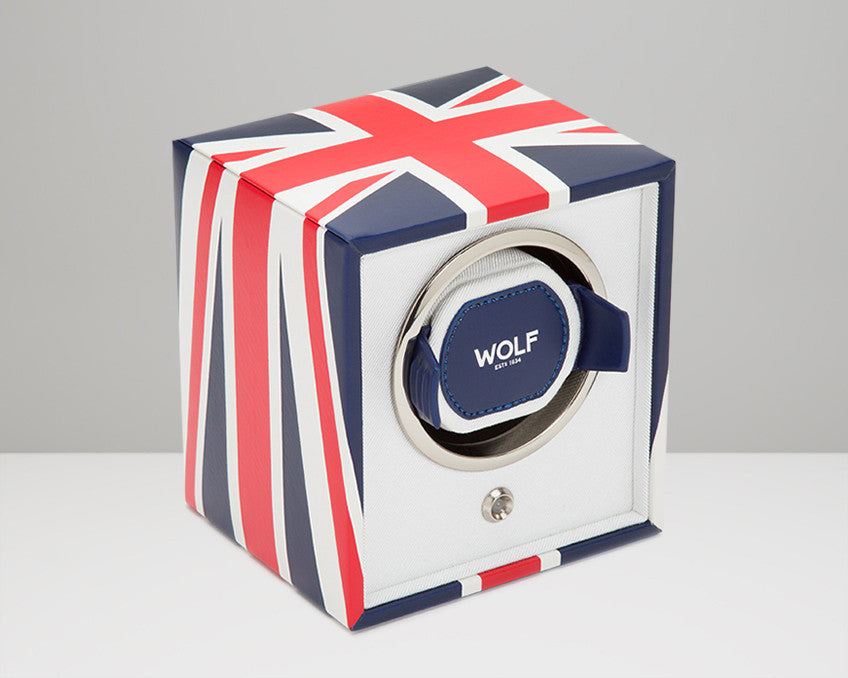 WOLF Navigator UK Flag Cub Watch Winder 462404