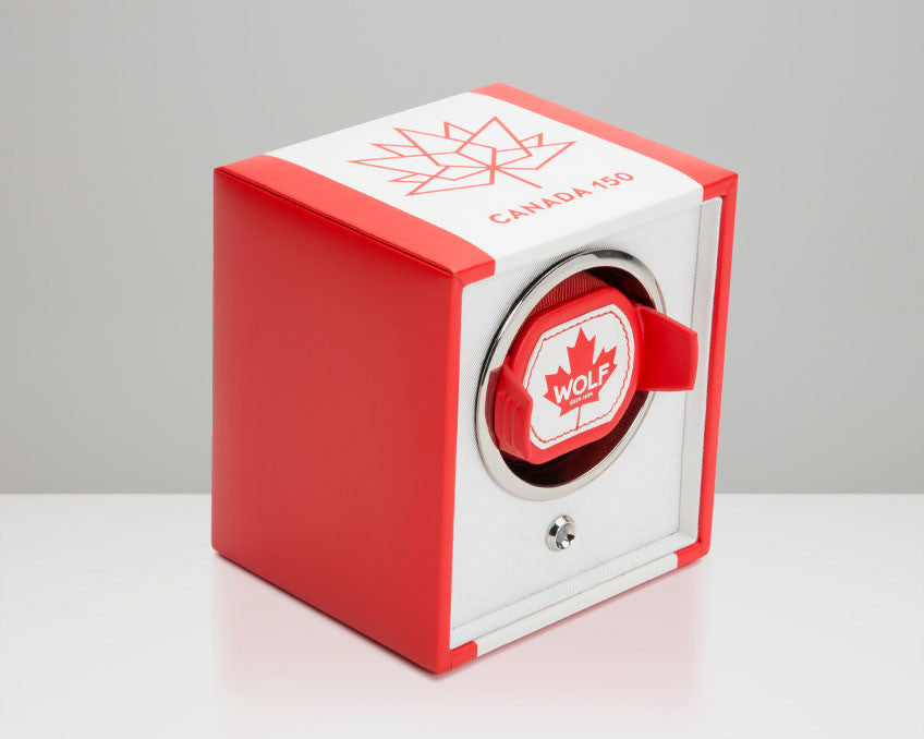 WOLF 462604 Canadian Flag Single Watch Winder Navigator Limited Edition