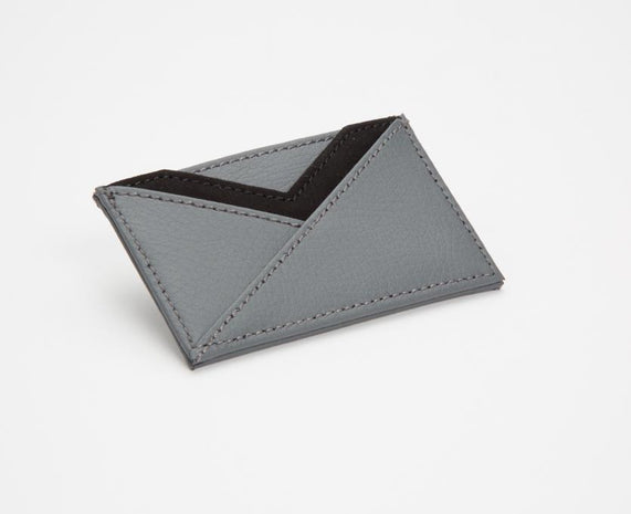 WOLF Howard Leather Card Holder (Wallet) Grey 466465