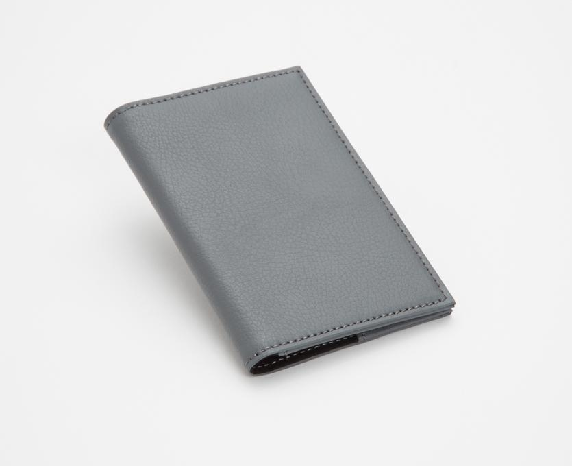 WOLF Howard Passport Holder Grey Leather 466565