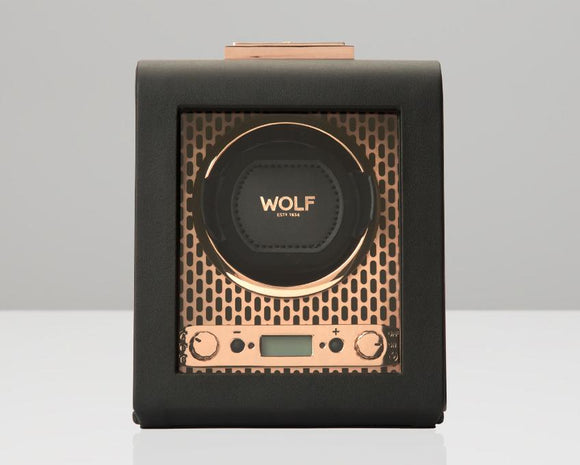 WOLF Axis Copper Metal Plating Single Watch Winder 469116
