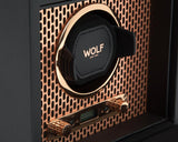 WOLF Axis Copper Metal Plating Single Watch Winder With Storage 469216