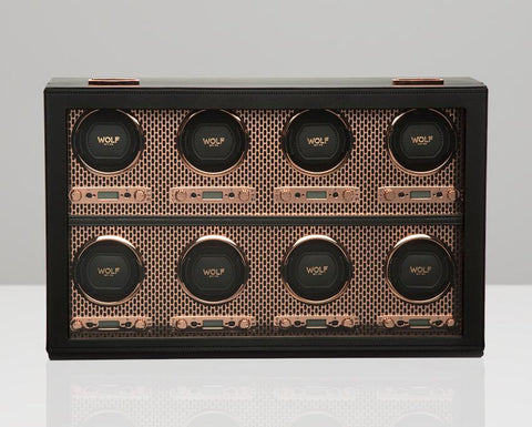 WOLF Axis Copper Metal Plated 8 Piece Watch Winder 469716