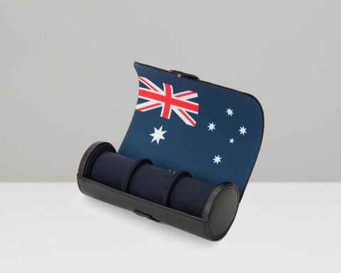 WOLF Navigator Australia Flag Triple Watch Roll 470004