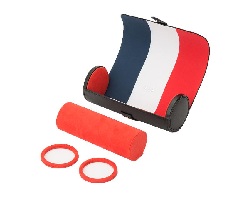 WOLF Navigator French Flag Triple Watch Roll 470304