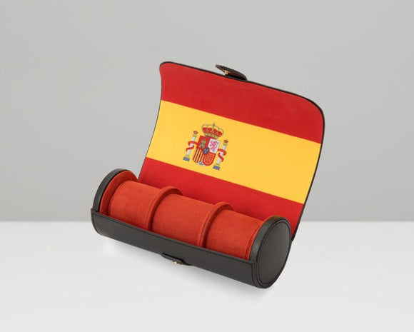 WOLF Navigator Spanish Flag Triple Watch Roll 470704