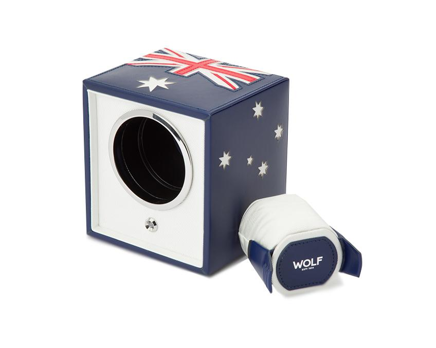 WOLF Navigator Australian Flag Cub Single Watch Winder 471104
