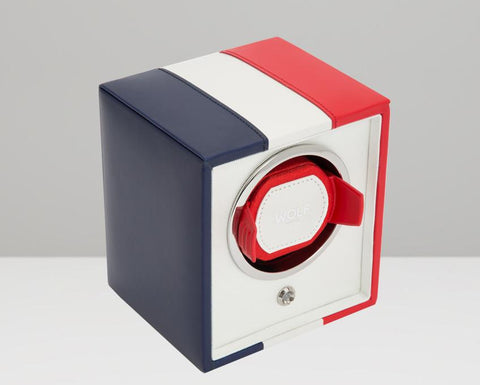 WOLF Navigator French Flag Cub Single Watch Winder 471404