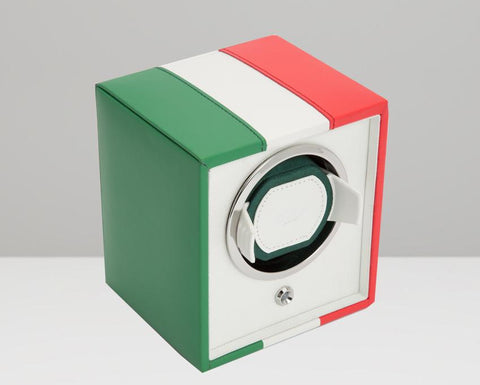 WOLF Navigator Italian Flag Cub Single Watch Winder 471504