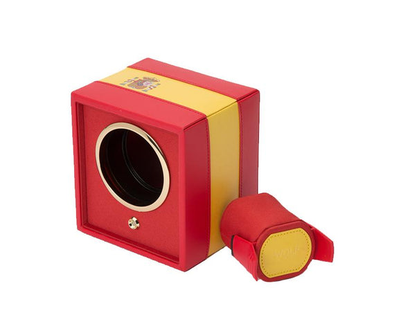 WOLF Navigator Spanish Flag Cub Single Watch Winder 471804