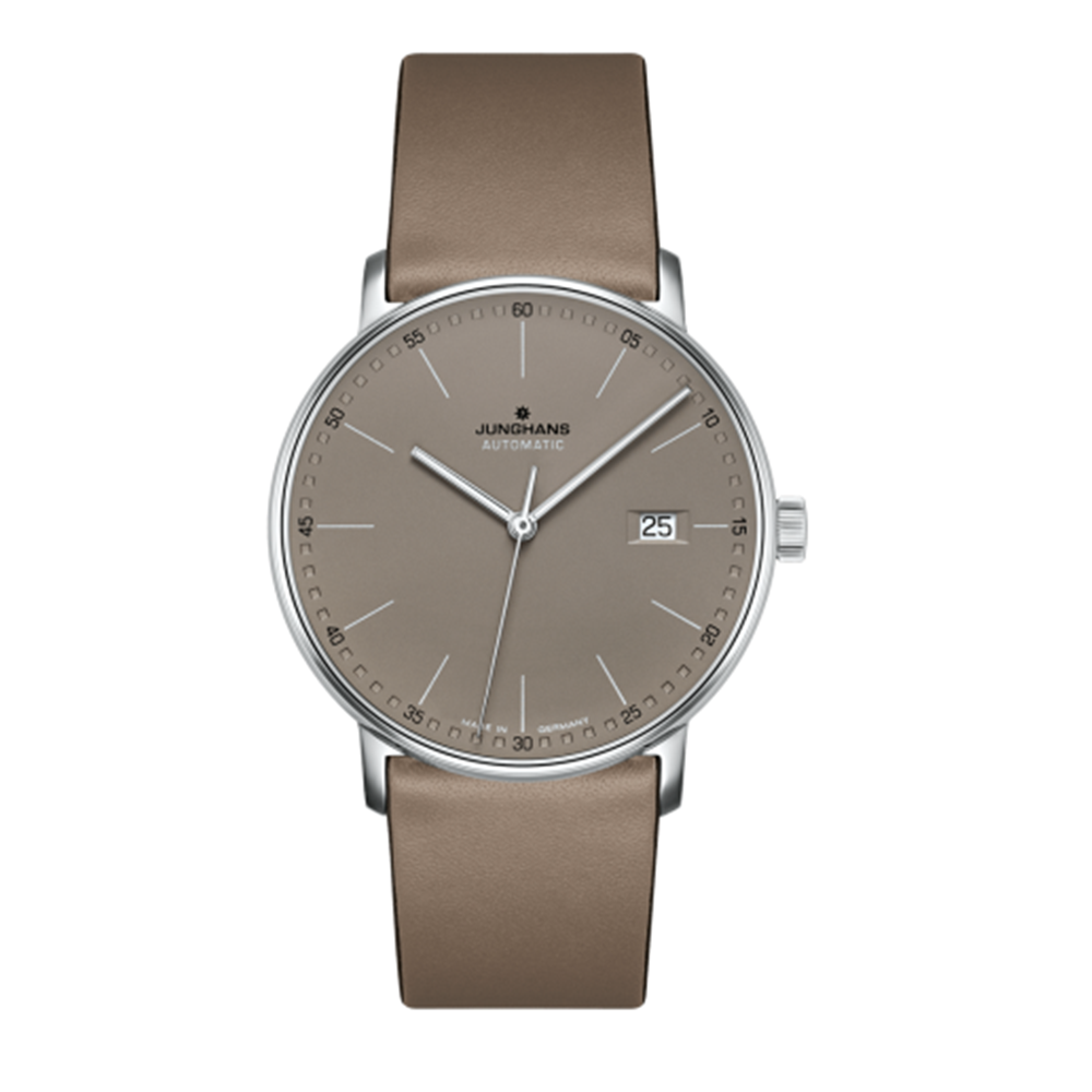 Junghans Form A 39.1mm Automatic Matte Taupe Dial Men's Watch 027/4832.00