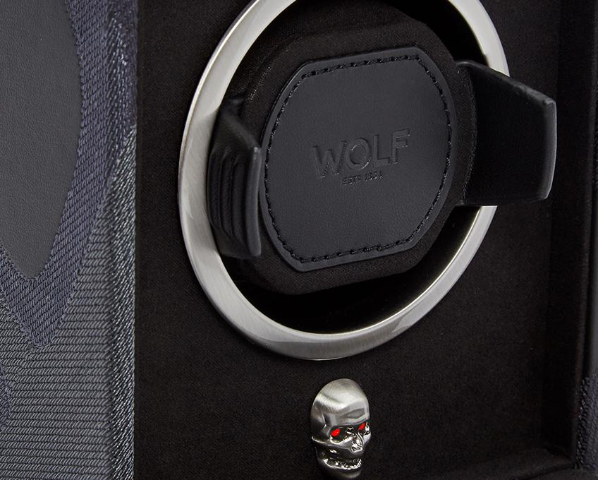 WOLF Memento Mori Cub Single Watch Winder Black 493102