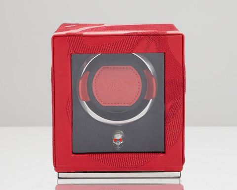 WOLF Memento Mori Cub Single Watch Winder Red 493172