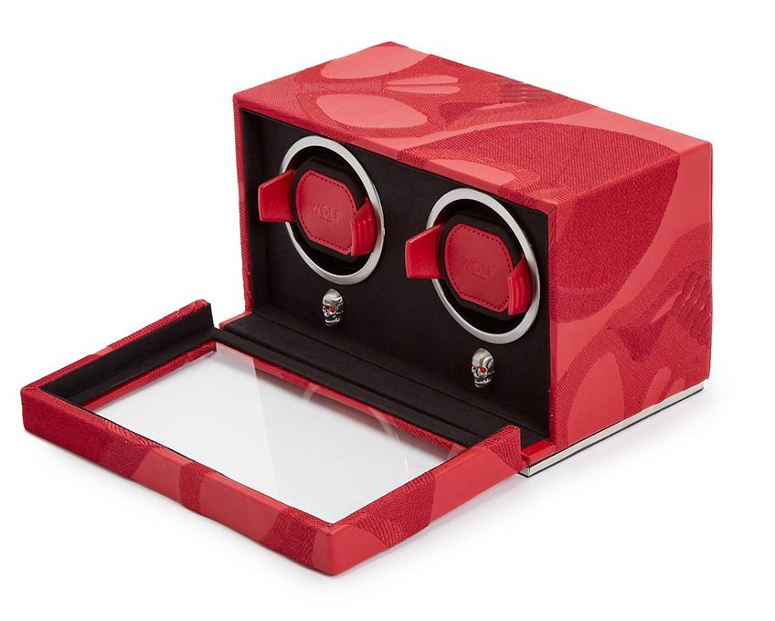 WOLF Memento Mori Cub Double Watch Winder Red 493272