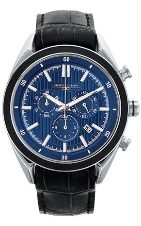 PRE-SALE Jorg Gray JG6900-22 Men's Watch Chronograph Blue Dial With Integrated Black Genuine Leather Strap