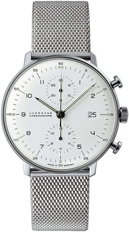 Junghans Max Bill Chronoscope Automatic Matte-Silver Men's Watch 027/4003.48