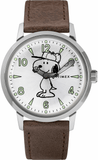 Timex Welton 40mm Snoopy Limited Edition Leather Strap Men's Watch TW2R94900